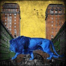 King in the city - blue